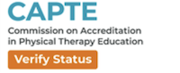 The CAPTE logo image is used to verify a program's accreditation status