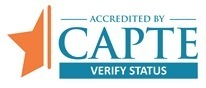 Accredited by CAPTE Verify Status logo