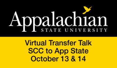 Appalachian State University Virtual Transfer Talk SCC to App State October 13 and 14