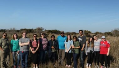 group of students exploring the outer banks