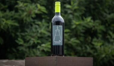 bottle of wine, outside