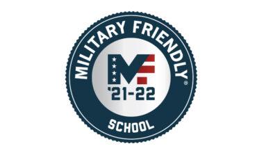 Round Seal: Military Friendly School MF '21-'22