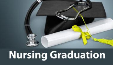 Nurse Graduation photo of diploma, mortar board, and stethoscope