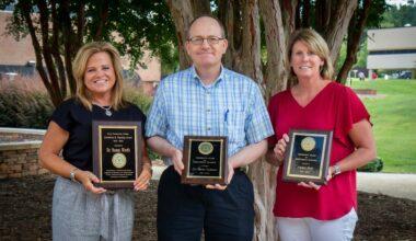 Dr. Susan Worth, Dr. Darin Cozzens, and Amber Reid - award recipients