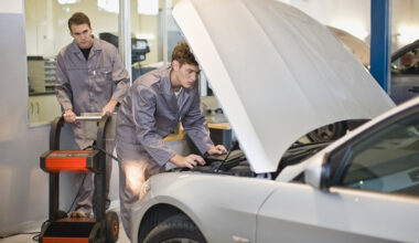 Students at work in the Auto Inspection Certification class