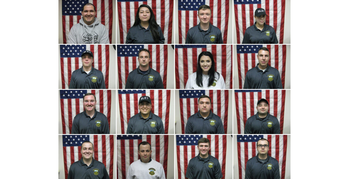BLET PHOTOS- 16 individual photos of graduates standing in front of American flag