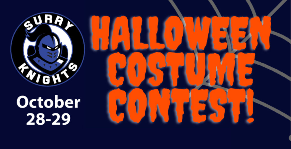 Halloween Costume Contest October 28-29 (Surry Knights logo with knights helmet)