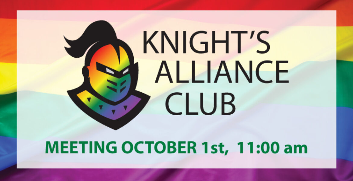 Knight's Alliance Club Meeting October 1st 11:00am