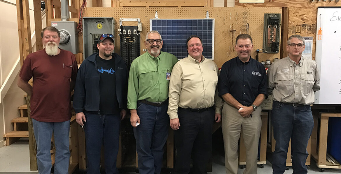 Group photo of State Electrical Representatives and SCC Instructors
