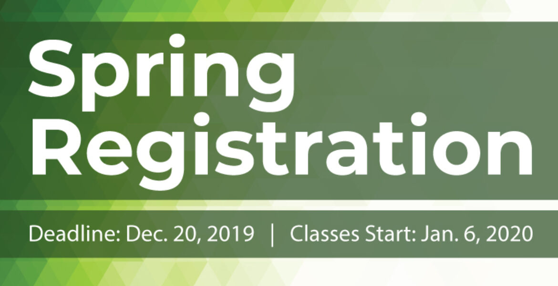 Spring Registration Banner