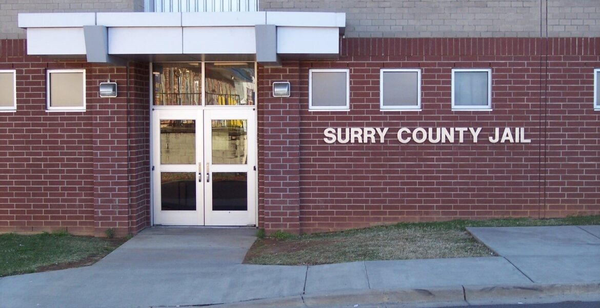 Surry County Jail entrance