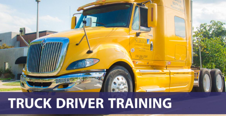 Truck Driver Training (photo of 18 wheeler truck cab)