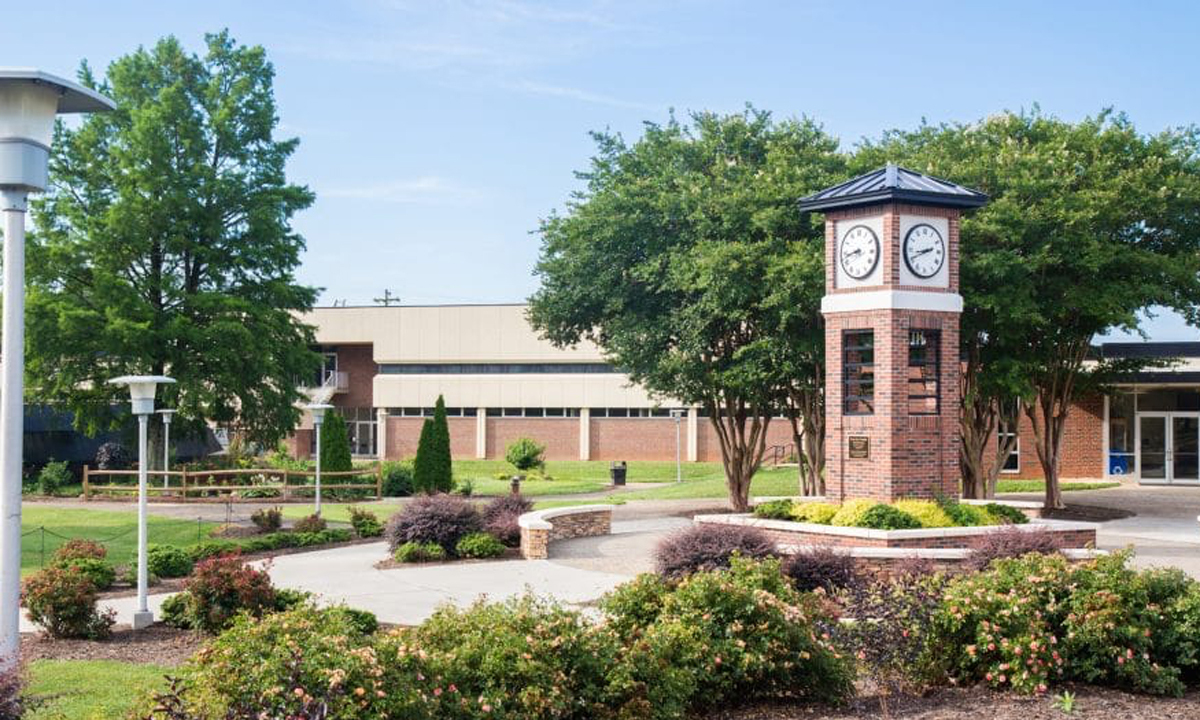 Surry Community College clock tower